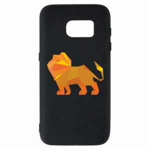 Phone case for Samsung S7 Lion abstraction - PrintSalon