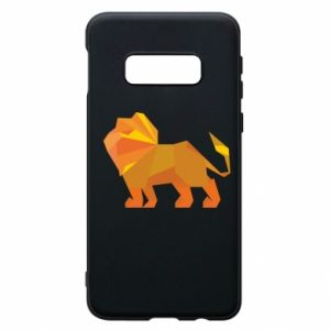 Phone case for Samsung S10e Lion abstraction