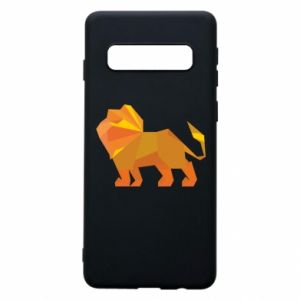 Phone case for Samsung S10 Lion abstraction - PrintSalon