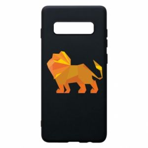 Phone case for Samsung S10+ Lion abstraction - PrintSalon
