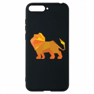 Phone case for Huawei Y6 2018 Lion abstraction - PrintSalon