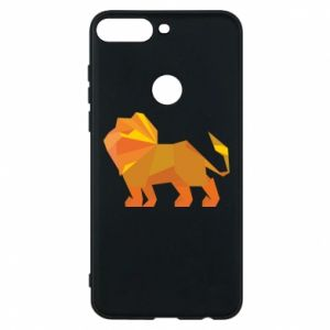 Phone case for Huawei Y7 Prime 2018 Lion abstraction - PrintSalon