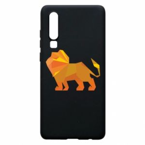 Phone case for Huawei P30 Lion abstraction - PrintSalon