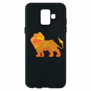 Phone case for Samsung A6 2018 Lion abstraction - PrintSalon