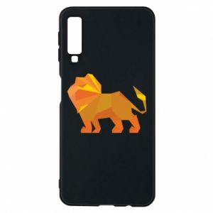 Phone case for Samsung A7 2018 Lion abstraction - PrintSalon