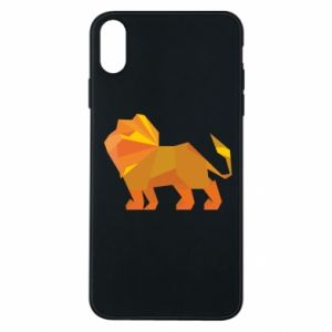 Etui na iPhone Xs Max Lion abstraction