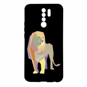 Etui na Xiaomi Redmi 9 Lion graphics