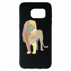 Etui na Samsung S7 EDGE Lion graphics
