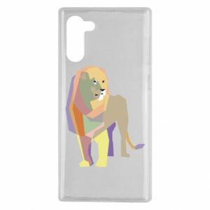 Etui na Samsung Note 10 Lion graphics