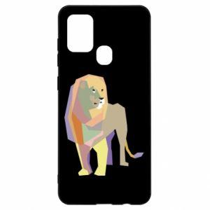 Etui na Samsung A21s Lion graphics