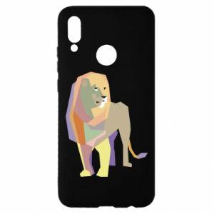 Etui na Huawei P Smart 2019 Lion graphics