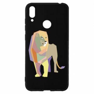 Etui na Huawei Y7 2019 Lion graphics