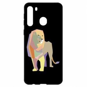 Etui na Samsung A21 Lion graphics