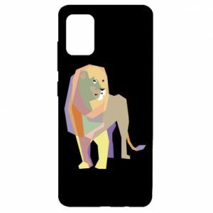 Etui na Samsung A51 Lion graphics
