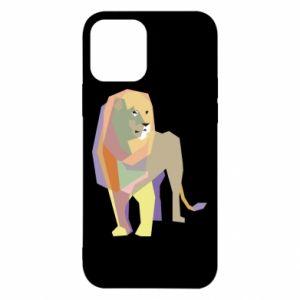 Etui na iPhone 12/12 Pro Lion graphics