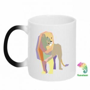 Kubek-kameleon Lion graphics