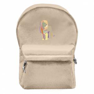 Plecak z przednią kieszenią Lion graphics