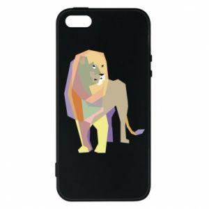Etui na iPhone 5/5S/SE Lion graphics