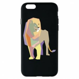Etui na iPhone 6/6S Lion graphics