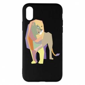 Etui na iPhone X/Xs Lion graphics