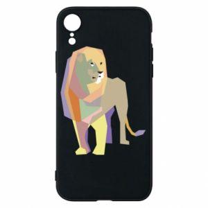 Etui na iPhone XR Lion graphics