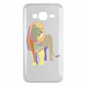 Etui na Samsung J3 2016 Lion graphics