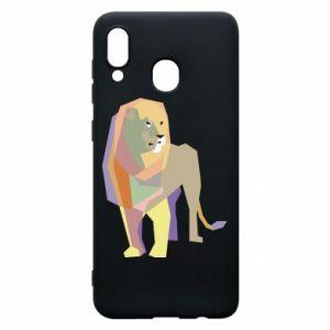 Etui na Samsung A20 Lion graphics