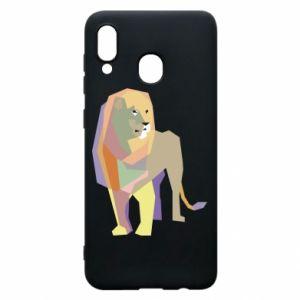 Etui na Samsung A30 Lion graphics