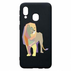 Etui na Samsung A40 Lion graphics