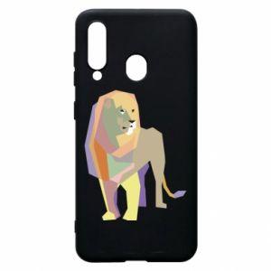 Etui na Samsung A60 Lion graphics