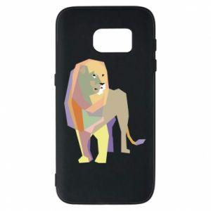 Etui na Samsung S7 Lion graphics