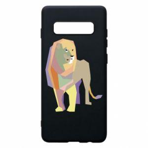 Etui na Samsung S10+ Lion graphics
