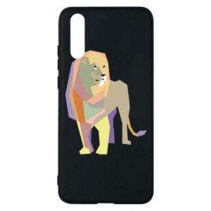 Etui na Huawei P20 Lion graphics