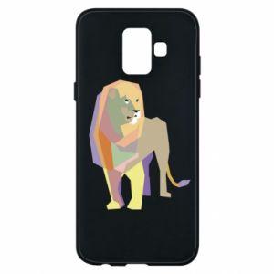 Etui na Samsung A6 2018 Lion graphics