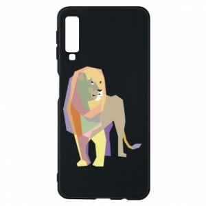 Etui na Samsung A7 2018 Lion graphics
