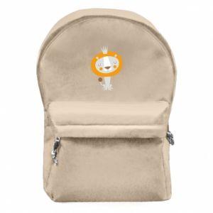 Plecak z przednią kieszenią Lion with a crown