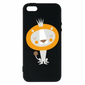 Etui na iPhone 5/5S/SE Lion with a crown