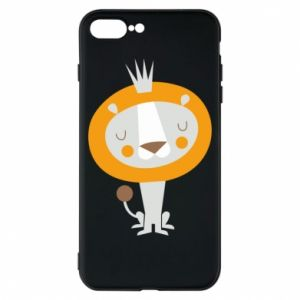 Etui na iPhone 8 Plus Lion with a crown