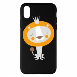Etui na iPhone X/Xs Lion with a crown