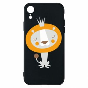 Etui na iPhone XR Lion with a crown
