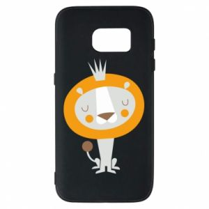Etui na Samsung S7 Lion with a crown