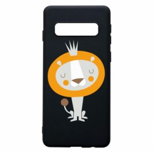 Etui na Samsung S10 Lion with a crown