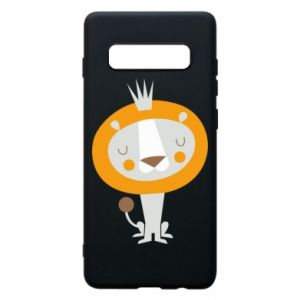 Etui na Samsung S10+ Lion with a crown