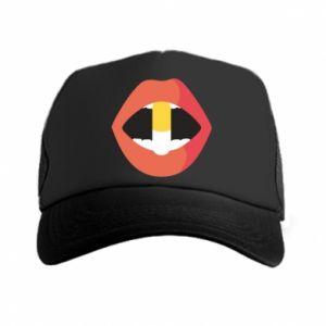 Czapka trucker Lips and pill