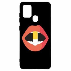 Etui na Samsung A21s Lips and pill