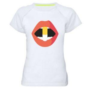 Koszulka sportowa damska Lips and pill