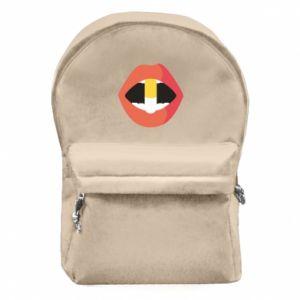 Plecak z przednią kieszenią Lips and pill