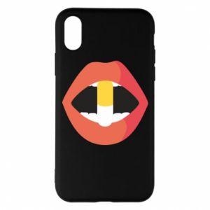 Etui na iPhone X/Xs Lips and pill