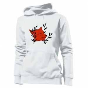 Women's hoodies Fox with closed eyes