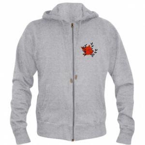 Men's zip up hoodie Fox with closed eyes